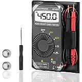 AUTOOL Mini Bolsillo Digital Voltímetro Amperímetro Probador ...