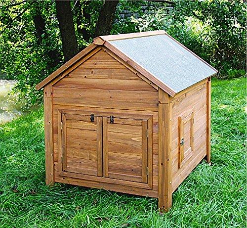 Kleintierstall für Kaninchen oder Hühner, BIG, Kerbl, einstöckig, mit Bitumendach, 105 x 100 x 108 cm