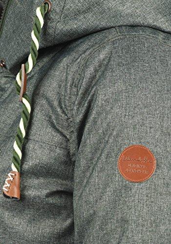 Blend SHE Dale Damen Winter Jacke Parka Mantel Winterjacke gefüttert mit Teddyfutter und Kapuze, Größe:XS, Farbe:Duffle Bag Green (77019) - 4