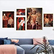 Classic Retro Gorgeous Lady Beauty Canvas Painting Pub Bar Home Decoration Wall Pictures Tango Night Cafe Art Poster