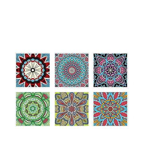 cker Dekoraufkleber Fliesenfolie 3D-Mosaik-Fliesenaufkleber Tile Style Decals KüChe Renovieren Bad Wandtattoo Wandfliesen (20×20cm, Mehrfarbig) ()