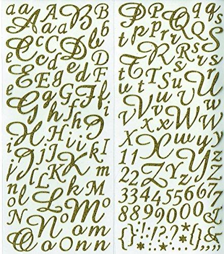 Artemio Alphabet-Aufkleber, glänzend, goldfarben