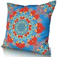 Sunburst Outdoor Living 45cm x 45cm HARMONY Federa decorativa per cuscini per divano, letto, sofà o da esterni - Solo federa, no interno
