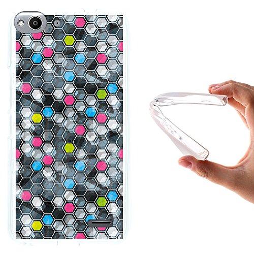 WoowCase Vodafone Smart Ultra 6 Hülle, Handyhülle Silikon für [ Vodafone Smart Ultra 6 ] Grunge Effekt Karierung Handytasche Handy Cover Case Schutzhülle Flexible TPU - Transparent