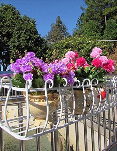 LB Ferro Ringhiere Flower Pot Rack, Hanging piante Scaffale, a