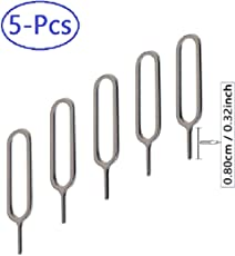 LXCTECH Sim Card Tray Ejector Pin Eject Removal Tool, Pole length 0.80cm / 0.32inch (Short-Needle)
