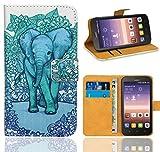 Huawei Y625 Handy Tasche, FoneExpert® Wallet Case Flip Cover Hüllen Etui Ledertasche Lederhülle Premium Schutzhülle für Huawei Y625 (Pattern 13)