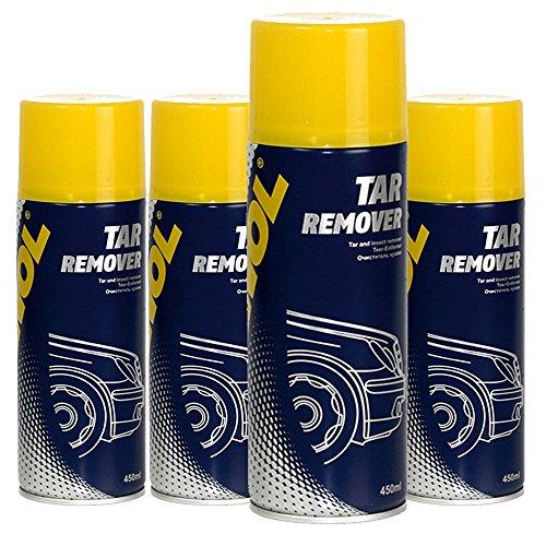 MANNOL 4 x 450ml 9668 Tar Remover/Teer- Insekten- Entferner Loesungsmittel Spray (Bug-entferner-spray)
