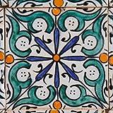 Orientalische Keramik Fliesen handbemalte marokkanische Motiv Fliese Hudah 10 x 10 cm