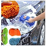#4: pink pari Car Microfibre Chenile Duster With Sponge & Grip. 2 in 1. Car Accessories. Useful for cleaning Car, Glass, Motorcycle, Bike, Mirror, Tile Etc.