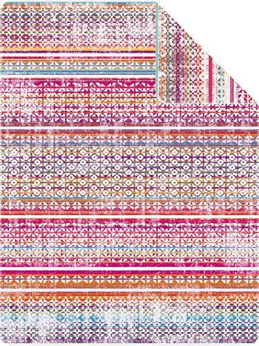 Ibena Wohndecke Bali Baumwollmischung Natur/bunt Größe 150x200 cm -