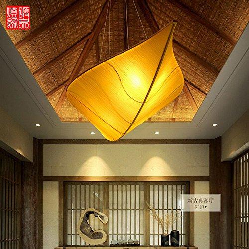 LIYANE26556Die neue chinesische Gewebe Blätter Kronleuchter Schlafzimmer Wohnzimmer ist das Hotel restaurant Restaurants Beauty Salon Wandlaterne, lange 120 * Breite 41 * Hohe 26 [Decke -
