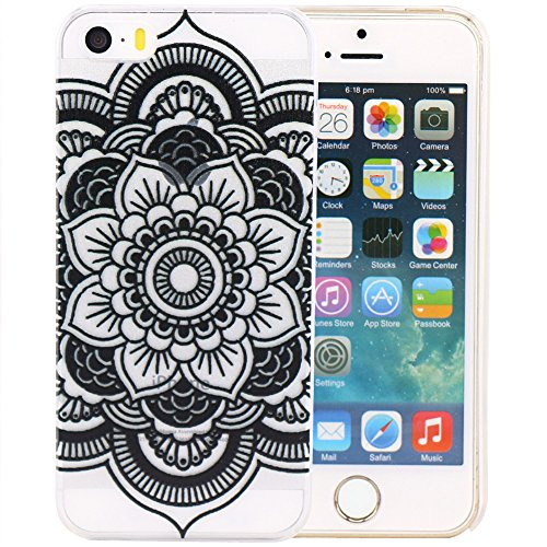 JIAXIUFEN Custodia Cover Case Ultra Slim Hard Plastica Custodia Protettiva Case Cover per Apple iPhone 5 5S -Henna Full Mandala tribal dream catcher mayan aztec