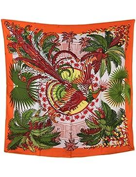 Efudfj Señora Bufanda Belleza Personalidad Sombra Inkjet De Seda Fácil De Fade Soft Weave Shawl,C:Orange