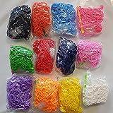 crownroyaljack Loom Bands, DIY Refill Freundschaft Gummibänder Gemischte Farbe Weben Armband Machen Kit für Kinder,7200 Pcs (Color 5)