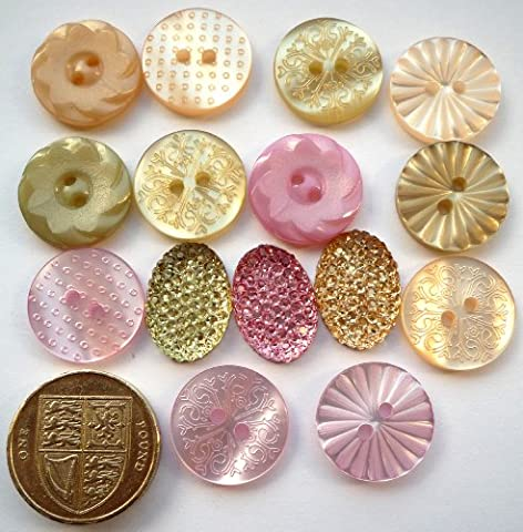 Au Jardin Pastel - Antique Style - Novelty Craft Buttons & Embellishments by Dress It Up