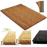 Tapis d'entrée en coco | Paillasson fibres en coco naturel – Effet nettoyant et grattant |...