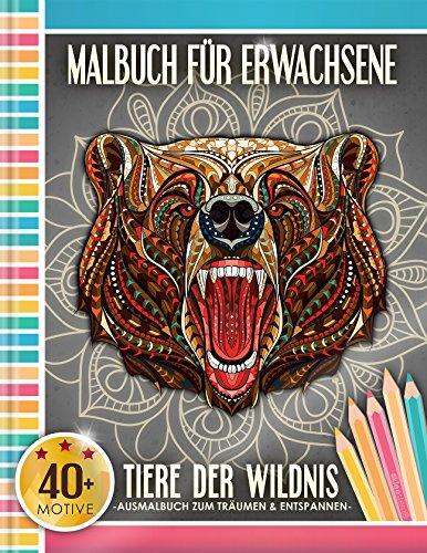 ene: Tiere der Wildnis (Kleestern®, A4 Format, 40+ Motive) (A4 Malbuch für Erwachsene) (Erwachsene Tiere)