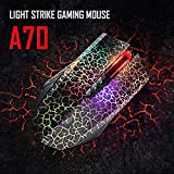 A70 - USB Wired 6D Optical Gaming Mouse For Computer/PC / Laptop With LED Infrared-Micro 6D DPI Adjustment, High Speed Roller, Advanced Tuning & Macro Shift Buttons
