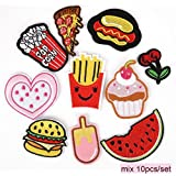 iDream Iron on Patches Embroidery Applique Decoration for Clothes L2-S12 (Pack of 10)