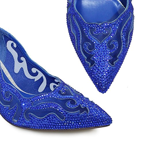 Lunaire Ballerines Femme Argent Pewter Cobalt Blue