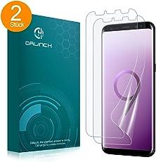 Dalinch Galaxy S9 Schutzfolie(2Stück), Displayschutzfolie [mit Hülle] [Fehler Vermeiden] [Ultra-Klar] [ Einfache blasenfreie Installation] TPU Schutzfolie für Samsung Galaxy S9.