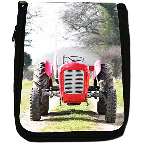 Trattore Medium Nero Borsa In Tela, taglia M Red Tractor In The Field