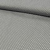 Tessuto in cotone Mini Stelle Grigio–Il prezzo si intende per 0,5meter -