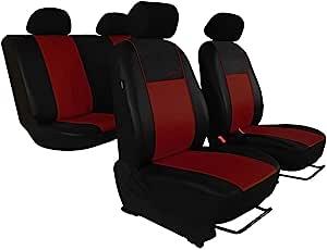 Saferide Maß Autositzbezüge Dunkel Rot Set Komplettset 5 Sitze Sitzbezüge Sitzbezug Schonbezug Schonbezüge Autoschonbezug Autositzbezug Sitzauflagen Sitzschutz Gallante Premium Auto