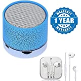 Captcha Wireless LED Bluetooth Speakers S10 Handfree With Calling Functions & FM Radio With In-Ear Style Earphones With Mic (Treble, Bass) Compatible With Xiaomi, Lenovo, Apple, Samsung, Sony, Oppo, Gionee, Vivo Smartphones (One Year Warranty)