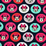 MAGAM-Stoffe Minnie Mouse Dots Jersey Kinder Stoff Oeko-Tex
