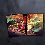 DAMU Herdabdeckplatten 2 x 40 x 52 cm Ceranfeldabdeckung Schutz Herdblende 80x52 2teilig Glas Spritzschutz Abdeckplatte Glasplatte Herd Ceranfeld Abdeckung Schneidebrett Gewürze Kaffee