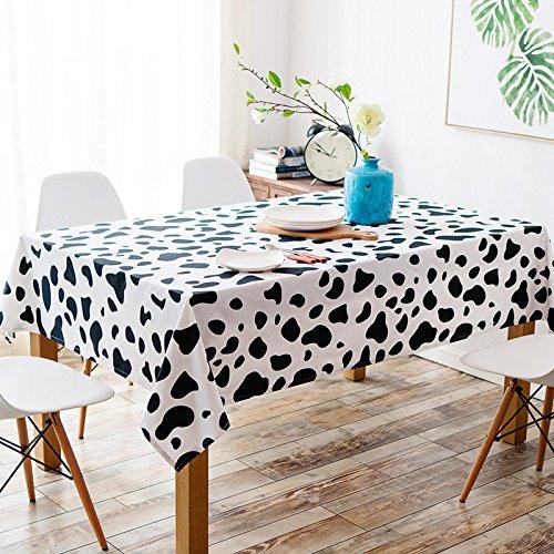 Accueil Noir Blanc Modèle de vache Nappe Épaississement Rectangle Multifonction Toile Couverture Tissu , 140 * 180cm