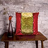 #4: Cortina Reversible Sequin Velvet Magical Color Changing Decorative Magic Pillow Cover Glitter Sofa Bed Home Car Decor Cushion Cover Case -Perfect Gifts Gifting Option For Relative Friends Others (16x16 inch)