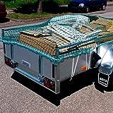 Donet Anhängernetz Transportnetz 3 x 4 m inkl. umlaufender Gummileine Mw. 45 mm grün