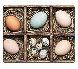 MSD-Tappetino per mouse in gomma naturale, gioco immagine ID 34882101-Scatola con pollo, tacchino goose quaglie e uova di anatra collection