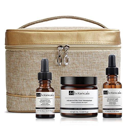 Dr Botanicals KDBBMSENS - Crema hidratante facial bio avanzada, serum facial ligero avanzado, serum nutritivo avanzado para ojos