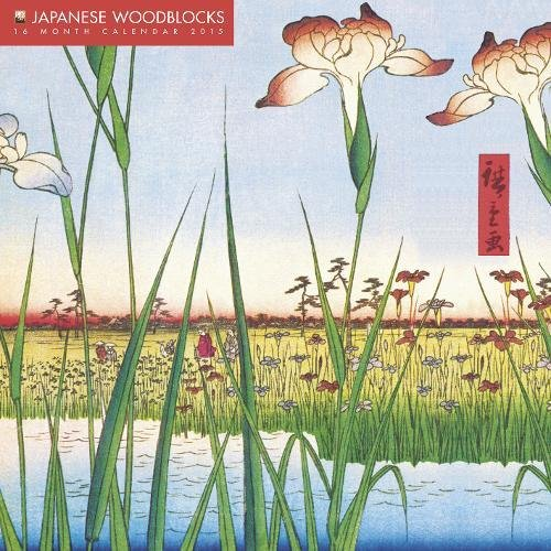 Japanese Woodblocks 2015 Calendar: With Glittered Cover