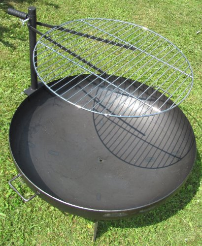 Grillrost Fr Feuerschale 60cm Verchromter Rost Hhenverstellbare Halterung