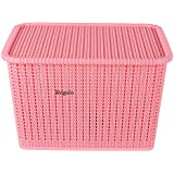 Generic Plastic Basket with Lid (Multicolour)