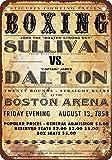 1858de Boxe John Sullivan vs. James Dalton Look Vintage Reproduction Plaque en Métal 17,8x 25,4cm