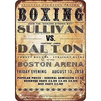 1858/de boxe John Sullivan vs James Dalton Look vintage Reproduction plaque en m/étal 30,5/x 45,7/cm