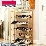 Bamboo Schuh Lagerregal Multifunktions Hight Qualität Speicherorganisator Für Schlafzimmer Flur 4 Bis 6 Tier 78 * 24 * 87 Cm ( Farbe : 68cm , größe : 6 tier )