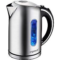 Bouilloire électrique avec illumination LED d'une capacité de 1,7 litres, puissance de 2200W, sans BPA. Système de…