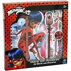Prodigiosa: Las aventuras de Ladybug Diario con accesorios, color rojo (Cife 40954)
