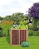 Weidenprofi HOCHB-8080 Hochbeet aus Weide mit Kieferrahmen, 80 x 80 x 80 cm