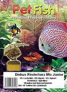 Diskus Natural - Rinderherz Mix Junior exta fein Super Jungfischfutter mit:...