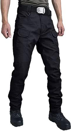 Gris Les umes Pantalon de travail tactique pour homme en plein air l/éger T/éflon Ripstop Militaire Pantalon pour randonn/ée W28
