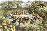 Posterlounge Holzbild 180 x 120 cm: Chorprobe im Feenland von Richard Doyle/Bridgeman Images