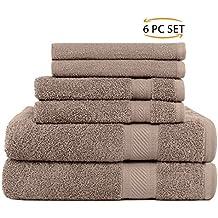SweetNeedle - Uso diario Juego de toallas de 6 piezas, Lino - 2 toallas de